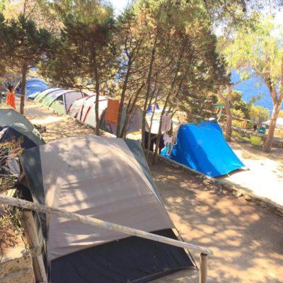 rocce camping isola del giglio